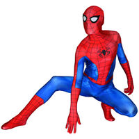 PS4 Classic Spiderman Costume Spandex Spider-Man Cosplay Suit For Adult/Kids