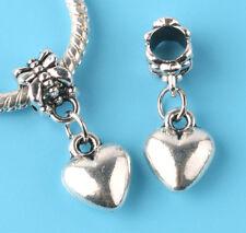 2pcs Tibetan silver LOVE Charm bead fit European Bracelet Pendant #F165