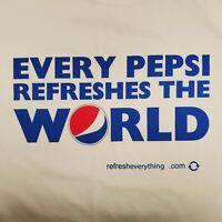 RARE Pepsi Soda Promo T-Shirt Size XL White Every Pepsi Refreshes The World
