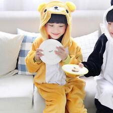 Hot Kigurumi Pajamas Animal Cosplay Costume Onesi Sleepwear Kid Suit Boy Girl+