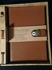Five-Year Lock Diary Genuine Leather Cover With Gold-Gilded Edges