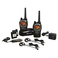 Midland GXT1000VP4 36 Mile 50 Channel FRS/GMRS Two Way Radio Pair Black Silver