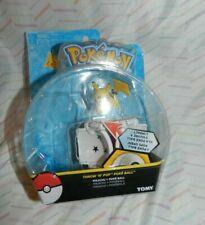 "Pokeball with Pokemon figure toys  2"" poke ball TOMY Pikachu NEW"