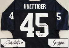 Sean Astin & Rudy Ruettiger Autographed Notre Dame Football Jersey ASI Proof