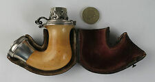Cased meerschaum and silver tobacco pipe Vienna c1853 Smoking Tobacciana