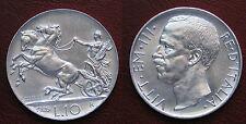 MONETA COIN REGNO D'ITALIA RE VITTORIO EMANUELE III° 10 LIRE (BIGA) 1926 ARGENTO