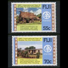 Fiji 1987 refugio para las personas sin hogar. SG 759-760. como Nuevo Nunca con Bisagras. (AX180)