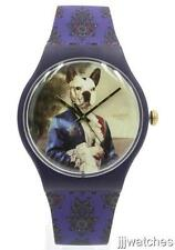 New Swatch Originals SIR DOG Multi-color Purple Silicone Watch 41mm SUON120 $75
