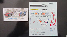 DECAL FERRARI F430 GT2 24H LE MANS 2011 #62 TEAM CRS RACING BBR 1/43 BBRC69