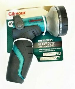 Gilmour Heavy Duty Thumb Control Garden Hose Spray Nozzle 8 Pattern 410GWT