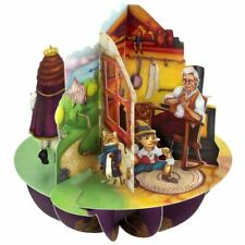 Santoro 3D  Pirouette Greeting Card - Aladdin, Puss in Boots, and Pinocchio