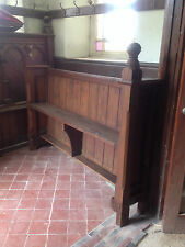 Victorian Church Neo Gothic Pew chapel settle bench Elders Seat Tall Slim
