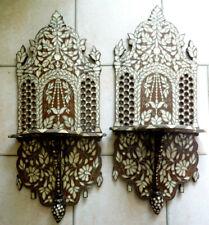 2 gde etagere marqueter nacre et boisTurkish iznik ottoman syrian perse berbere