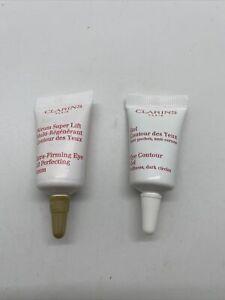 2x Clarins Eye Contour Gel / Extra Firming Eye 3 ml 0.1 oz New Sample Size NWOB