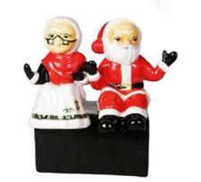 Josef Originals Mr. and Mrs. Santa Claus Celebrate Christmas Figurine