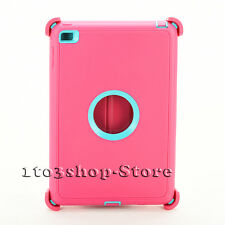 Defender Rugged Hard Shell Case fo iPad Mini 4 w/Otterbox Stand Cover Pink/Teal