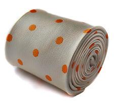 Frederick THOMAS IVORY e Arancione Pois Spot Uomo matrimonio cravatta RRP £ 19,99 ft1412