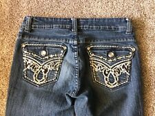 JZ Premium Denim Jeans Size 1 Pocket Bling Boot Cut EUC