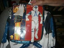 STAR WARS CLONE TROOPER JUMPSUIT BOOT TOPS & MASK SIZE LG. HALLOWEEN  COSTUME
