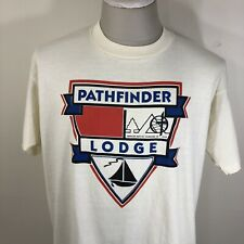 Vintage 90s Pathfinder Lodge American Baptist Church of Nys T Shirt Men's Xl
