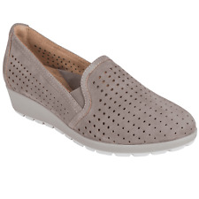 Women's Earth Brand Juniper Slip On Casual Wedge Shoes - Grey