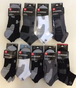 NWT 3 or 4 Pair Under Armour Mens Youth Golf Low Cut No Show Socks YL MD LG XLG
