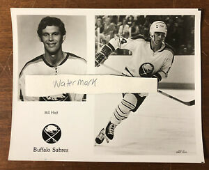 Vintage Buffalo Sabres Team Issued Photo Bill Hajt Buffalo Memorial AUD