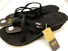 TEVA WOMENS SANDAL MUSH MANDALYN WEDGE OLA 2 BLACK SIZE 10