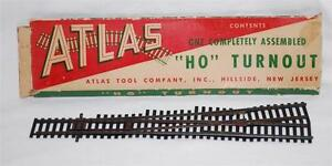 """Atlas HO scale Left Hand Switch turnout assembled Nickel Silver 11 1/4"""" long"""