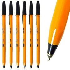 10 X Bic Orange Noir Fine Stylo à bille