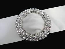 BIG Crystal Rhinestone Buckle for Wedding Decor chair Sash Ribbon G085-3