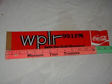 WPLR 99.1 FM BUMPER STICKER NEW HAVEN CONNECTICUT CT YALE 1980's COCA-COLA !