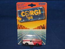 1988 Corgi Corvette Die Cast Red White Mint on Card MOC Great Britain
