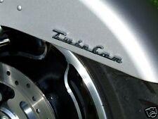 TWIN CAM Fender Saddlebag Emblems Harley Fat Boy
