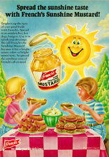 1979 vintage Ad for FRENCH'S MUSTARD, cartoon kids. burgers and hot dogs 050814