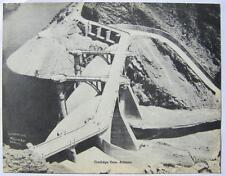 GIANT Vintage Postcard Coolidge Dam Globe Arizona AZ 9 x 7 Black & White
