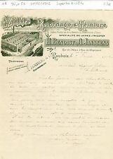 Dépt 59 - Roubaix Rue de l'Espérance - Superbe Entête d'une Filature  01/02/1902