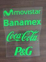 Mexico National Team Sponsors Set - Estampado Seleccion Mexicana 2014