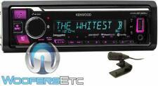 KENWOOD KMM-BT325U IN-DASH 1-DIN DIGITAL MEDIA RECEIVER CAR BLUETOOTH USB NEW
