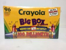 Vintage Crayola 100 Billionth Crayon Box 96 Count Built In Sharpener 1996 Sealed
