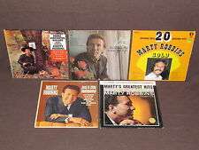 MARTY ROBBINS 5 LP RECORD ALBUMS LOT COLLECTION Greatest Hits/Gunfighter Ballads