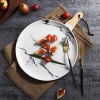 Marble Ceramics Breakfast Plates Kitchen Salad Dinner Plates Steak Dish