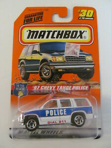 Matchbox - To The Rescue Series - #30 - '97 Chevy Tahoe Police - Some Wear