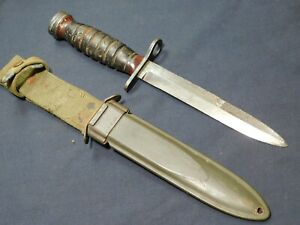 WWII US M1 Carbine Bayonet Imperial Fighting Knife Dagger A+ w/M8
