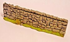 1/32 scale,resin rustic stone wall 4 x STRAIGHT lengths farm/war gaming