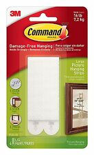 12ct 6 pairs Command 3M Picture Frame Hanging Strips Sets Large White Damage