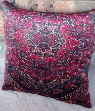 Mulberry Housse de Coussin Oriental tapis Bohême velours Rouge Violet Vert Homme
