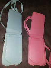 Ipod Touch 2g 3g case PINK & Blue belt loop / magnetic closure / shoulder strap