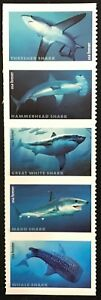 2017 Scott #5223-5227 - Forever Rate - SHARKS - Strip of 5 - Mint NH