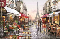 500 / 300 Pieces DIY Jigsaw Paris Flower Street Puzzle for Adults Kids Toys Gift